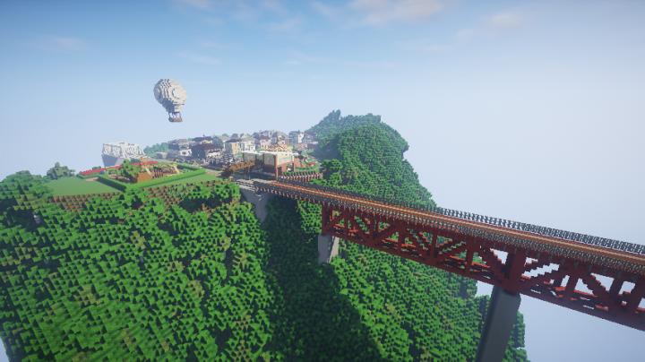 Minecraft Japanese Bridge japanese diorama minecraft project