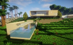 Modern Birch Concept House Minecraft Map & Project