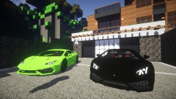 [Minecraft] Alcara_v1 Lamborghini Huracán Minecraft Map & Project