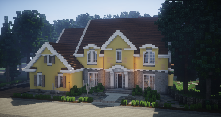 Fine Traditonal House European Style Minecraft Project Download Free Architecture Designs Osuribritishbridgeorg