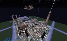 Project NightLight 2020E - A Futuristic Military base [Experimental Base] Minecraft Map & Project