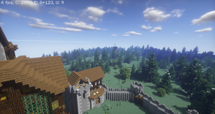 Heres a view of a watchtower to the north east of the castle, closer to the border.