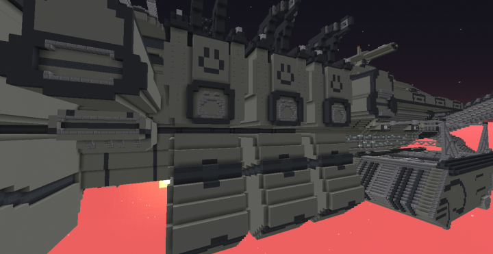 Three dropship hangars with , Troop Commons area, and Troop Necessity Bays