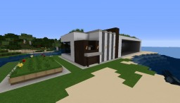 Modern beach house - a simple building by satorim Minecraft Project