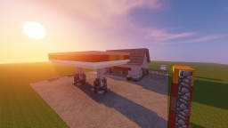 realistic petrol/gas station | azrion Minecraft