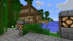 Modern wood house and tropical park Minecraft Project