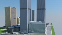 1:1 Manhattan 2001,  (World Trade Center). Minecraft Map & Project