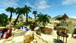arabian village in desert Minecraft