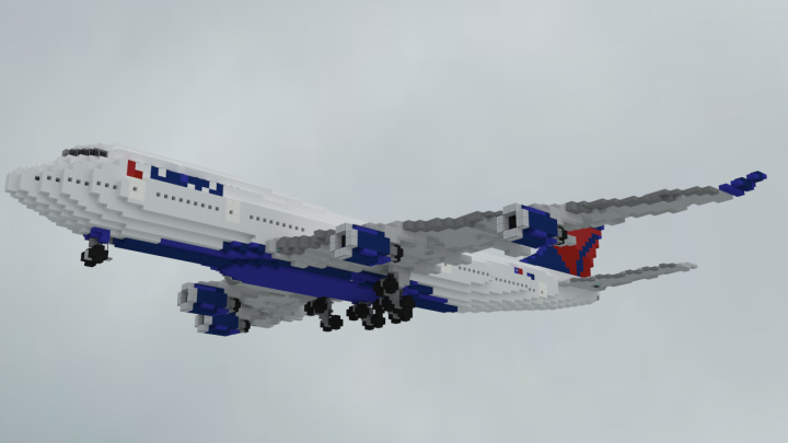 The Delta Boeing 747-451 in all of its glory