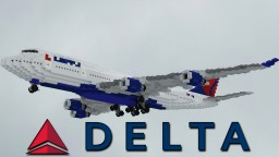 Delta Airlines Boeing 747-451 [1.5:1] Minecraft Map & Project