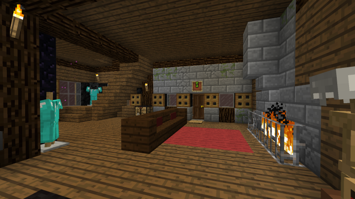 Inside the first floor, cozy safe room