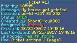 PLUGIN:HelpTickets [Bukkit 1.12.0-1.8.0 and CB1.7.9R0.2/0.1] Minecraft Mod