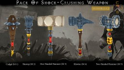 Pack Of Shock-Crushing Weapon. Minecraft Texture Pack