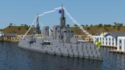 Rasha-class battleship Minecraft Project