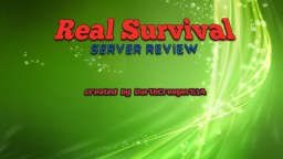 Server Review - Real Survival Minecraft Blog Post
