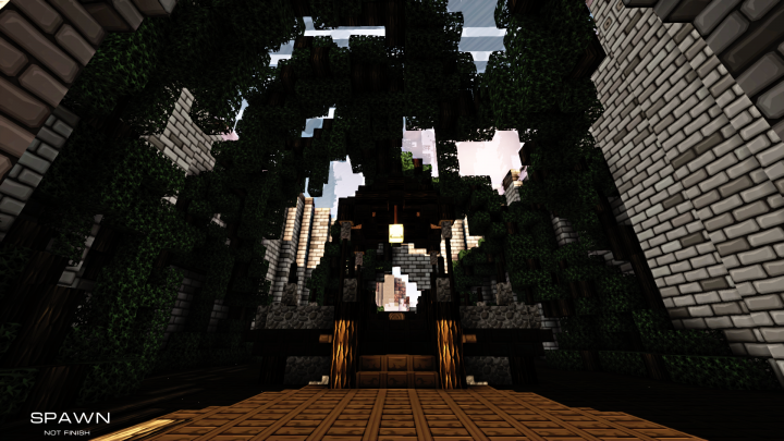 Spawn inside the Cathdrale.