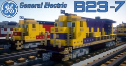 [1.5:1 Scale] GE B23-7 diesel-electric locomotive- ATSF, CSX, CR, SP, SCL & many more Minecraft Project