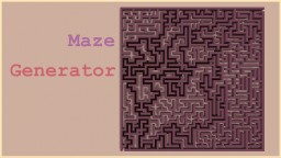 Maze generator Minecraft Map & Project