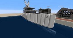 Number Three - Modern Super Yacht. Minecraft Project