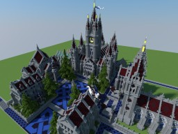 Gothic Town Hall +extras Minecraft