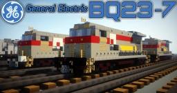 [1.5:1 Scale] GE BQ23-7 diesel-electric locomotive - SCL & CSX Minecraft Project