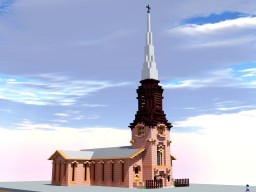 Church of the Holy Apostles, New York, USA Minecraft