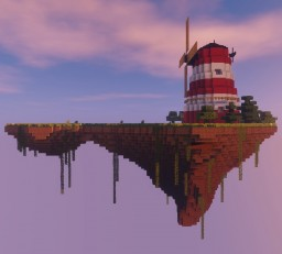 Gorillaz - Flying Windmill Island (with functioning windmill!) Minecraft Map & Project