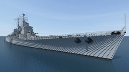 HMS Vanguard - scale 4:1 Minecraft Map & Project