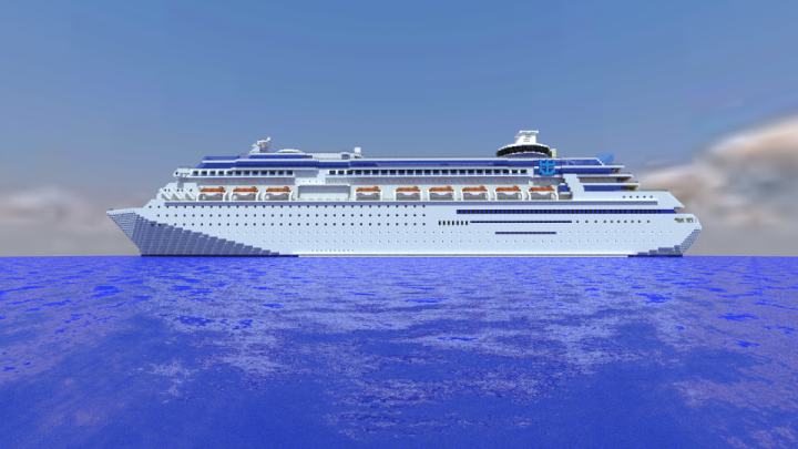 MS Sovereign Of The Seas Full Scale FIRST EVER IN MC Minecraft - Ms sovereign cruise ship