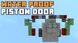 WATERPROOF 2x2 FLUSHED PISTON DOOR! Minecraft Blog Post
