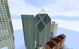 Replica Minecraft: Two Tower New World Trade Center, New York, United States. Minecraft Map & Project