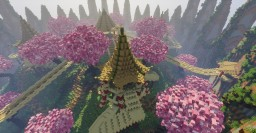 Cherry Blossom Spawn Minecraft Map & Project