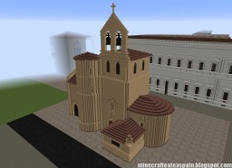 Replica Minecraft of the Church of the Savior of Escaño, Burgos, Spain. Minecraft Project