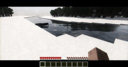 River survival map snowy edition Minecraft Project