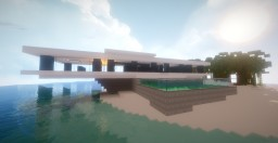 Simple Modern Beach House +  Luxury Yacht Minecraft Project