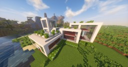 Modern Home near savanah village Minecraft Map & Project