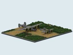 WW2 American airstrip diorama Minecraft Project