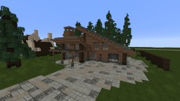 Wooden Modern House (with HowTo video) Minecraft Project