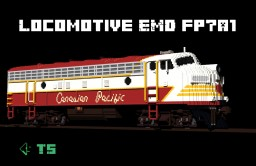 Locomotive EMD fp7a1 Minecraft Map & Project