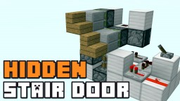 SIMPLE HIDDEN STAIRCASE DOOR! Minecraft Blog Post