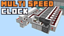 MULTI SPEED REDSTONE CLOCK V2.0 Minecraft Blog Post