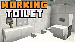 THE ULTIMATE WORKING TOILET! Minecraft Blog Post