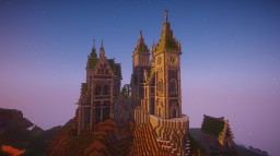 Castle on a hill Minecraft Map & Project
