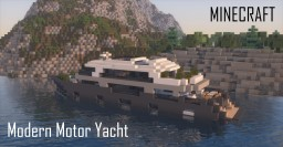 Modern Motor Yacht (full interior) Minecraft Map & Project