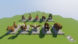 *Asia Update* World Animal Statues Minecraft Project