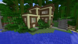 Jungle modern house Minecraft Map & Project