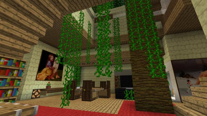 The atrium with big tree