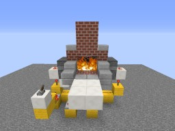 Secret passage in the fireplace Minecraft Map & Project