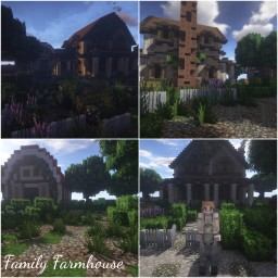 Family Farmhouse Minecraft Map & Project