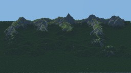 Mountains and forest Minecraft Project